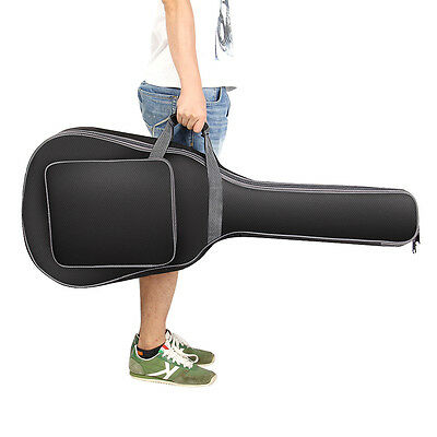 """Advanced Waterproof Acoustic Guitar Bag Thicken Padded Soft Case  40/41"""" BLACK"""