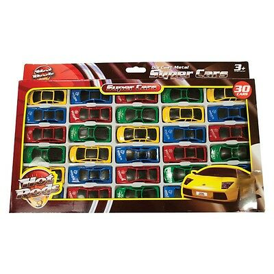 30 x Pack Toy Die-Cast Vehicle Sports Cars Car Set Childrens Kids Push-Along