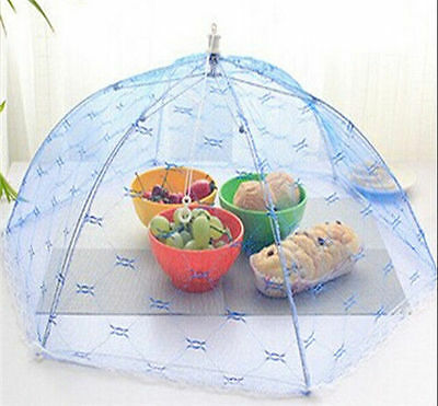 Fold Food Cover Tent Umbrella Collapsible Cake Covers Lace Mesh Net Insect