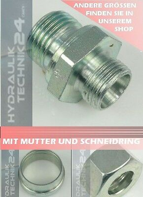 Straight Screw-in Connection Hydraulic Fitting Cutting