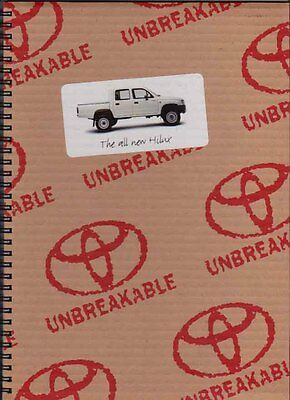 1998 TOYOTA HILUX PICKUP Australian Brochure and Colour Chart