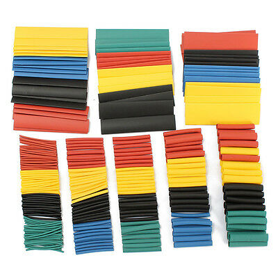 328 Pcs Car Electrical Cable Heat Shrink Tube Tubing Wrap Wire Sleeve Assorted