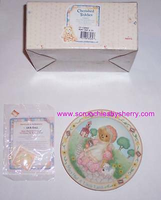 Mary Had Little Lamb Cherished Teddies Collector Plate Vintage Retired Gift