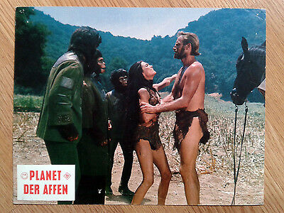 PLANET OF THE APES rare vintage German LC #2 1967 Sci-Fi classic CHARLTON HESTON