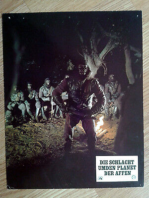 BATTLE FOR THE PLANET OF THE APES rare vintage German LC #7 1973 Sci-Fi classic