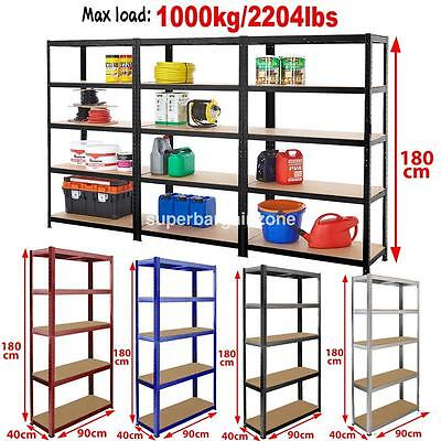 Racking Storage Bays Shelving Heavy Duty Garage 5 Tier Steel Shelves Warehouse G