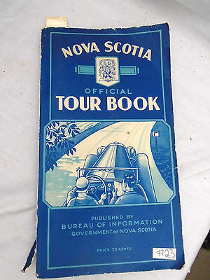 NOVA SCOTIA OFFICIAL TOUR BOOK 1930's Hwy Road Map Guide Towns Game Sanctuaries