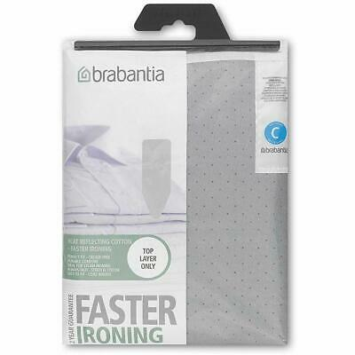 Brabantia Metalised Silver Ironing Board Cover Size C 124 x 45cm