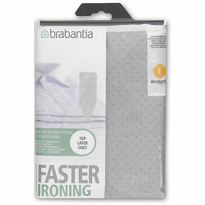 Brabantia Metalised Silver Ironing Board Cover Size E 135 x 49cm