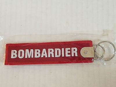 Bombardier Aerospace Remove Before Flight Tag Keychain Military Red NEW
