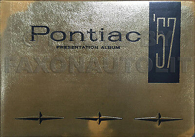 1957 Pontiac Presentation Dealer Album with Accessories Features Specifications
