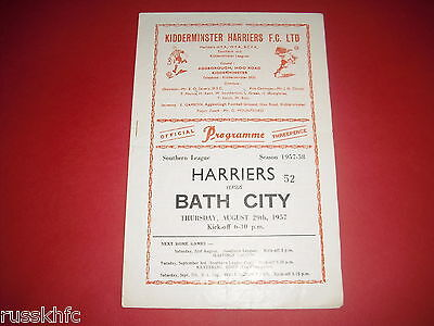 1957/58 Kidderminster V Bath - Southern League