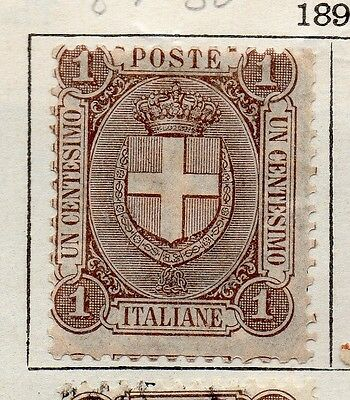Italy 1895 Umberto Early Issue Fine Mint Hinged 1c. 091428