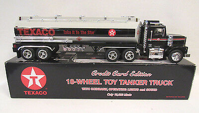 1997 Texaco Take It To The Star Tanker Truck Light Up Sounds Bank New In Box