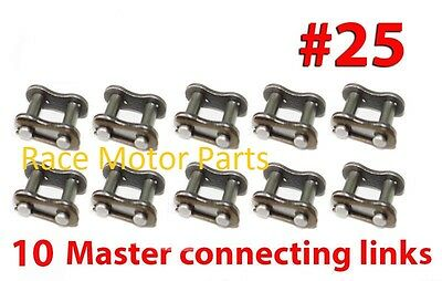 10 MASTER CONNECTING LINKS SIZE #428 COOLSTER 216 3150B 3150A 3150D 3150DX-2
