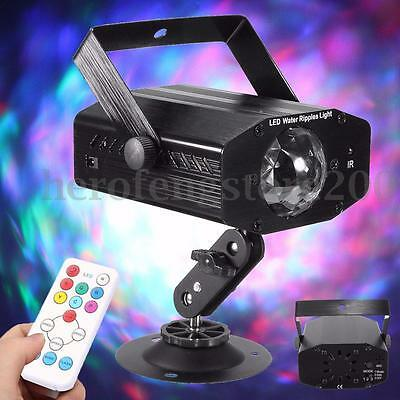 Water Wave Effect LED Laser Projector Stage Light DJ KTV Disco Party Lamp Remote