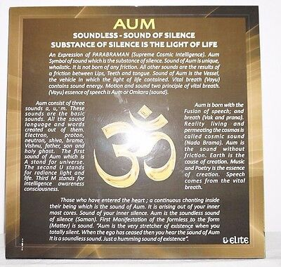 Aum Om light of life wisdom wall art hanging poster karma meditation Yoga