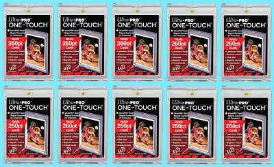 10 Ultra Pro ONE TOUCH MAGNETIC 260pt UV Trading Card Holder Case Sports 2 Piece