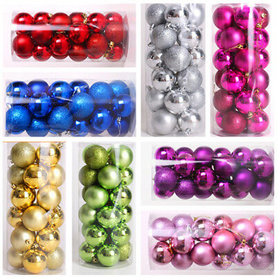Durable 24PCS Balls Baubles for Christmas Tree Xmas Party Decorations