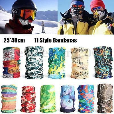 Unisex Outdoor Cycling Camo Scarf Snood Neck Head Wear Bandanas Tube Face Mask