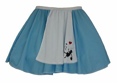 52cae5c062 Ladies Blue   White Alice in Wonderland Apron Skater Skirt Fancy Dress