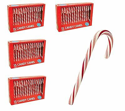 60x Pack of Christmas Tree Xmas Childrens Candy Canes Sweets Stocking Gift Set
