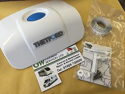 Caravan Thetford C200 Swivel Toilet White Bezel Top & Flush Switch 2377162