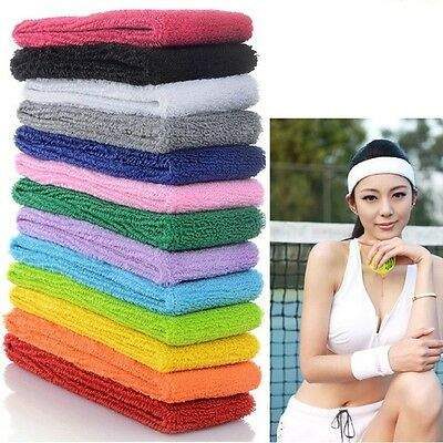 Sports Yoga Gym Stretch Headband Head Band Hair Band Sweat Sweatband 8Color