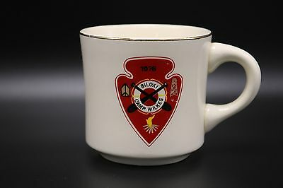 Boy Scouts VTG 1976 Coffee Mug Cup Camp Wilkes Biloxi Mississippi BSA Arrow Head