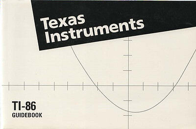 Texas Instruments TI-86 Manual ~ Guidebook Like New 1995