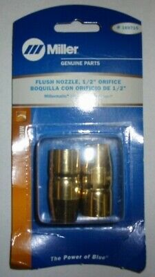 "MILLER Genuine 169715 FLUSH NOZZLE 1/2"" ORIFICE - QTY 2"