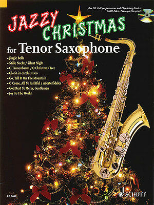 Jazzy Christmas for Tenor Saxophone Jazz Classical Sheet Music Book CD Pack NEW