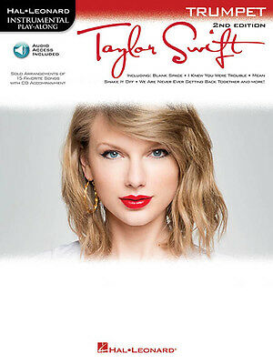 Taylor Swift Trumpet Solo Sheet Music 15 Songs Play-Along Book Online Audio NEW