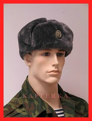 ☆ Original Russische Armee Soldaten Winter Uniform-Mütze Schapka Uschanka 1994 ☆