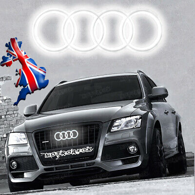 Audi Led Badge  Emblem A3 A4 A5 A6 White Light Front Grill Glow Logo Rings