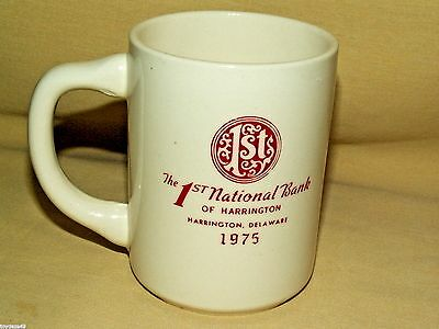 Harrington Delaware First 1st National Bank 1776 1976 Bicentennial Mug Cup USA