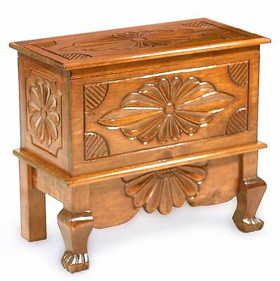 NAHUALA FLORAL Hand Carved PINEWOOD TRUNK Chest LARGE Novica ART