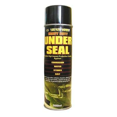 2 x Silverhook High Impact Black Underseal 500ml Can - Bitumen Underbody Spray