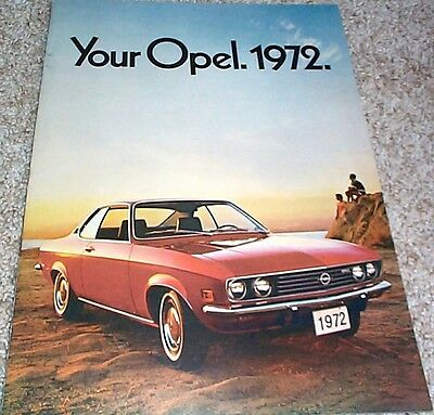 1972 Opel Sales Brochure GT/Rallye/Wagon/Sports Coupe