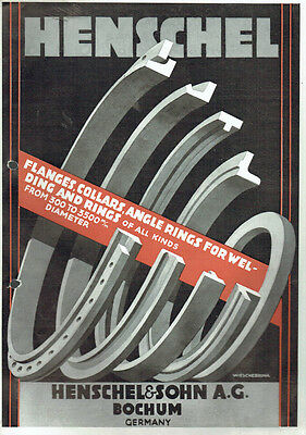 Henschel Original Prospekt Flanges Collars Angle Rings For Wel (Agk1047)