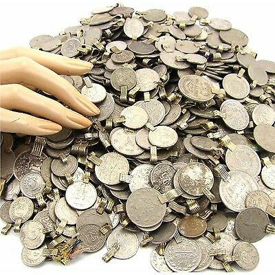 50 real COINS Tribal Belly Dance ATS Kuchi ROUND ((standard unpolished))