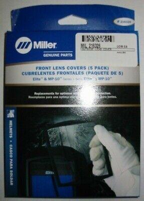 MILLER Genuine 216326 FRONT COVER LENS for ELITE SERIES - QTY 5