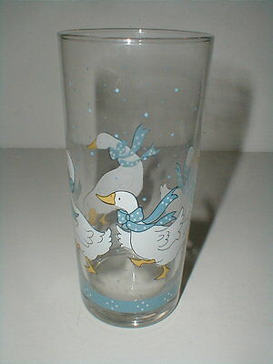"""Home Style COUNTRY GOOSE Duck 5-1/2"""" Glass Tumbler/s"""