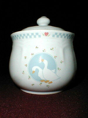 Ten Strawberry St/Street MOONLIGHT Geese Sugar Bowl