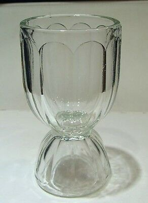 Jeannette  Clear Pressed Glass No 124 COLONIAL Paneled Double Egg Cup