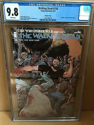 The Walking Dead 158 Adams Connecting Cover Variant CGC 9.8