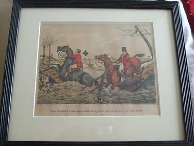 SPORTING no IDEA what induce me to follow  HUNTING COLOURED LITHOGRAPH ALKEN