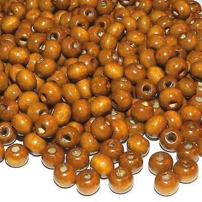 W656L2 Brown 8mm Round Rondelle Wood Beads 1oz Package (190/pkg)