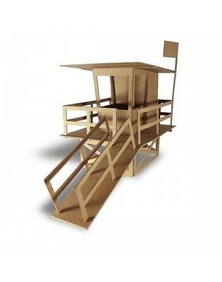Boundless Brooklyn LIFEGUARD TOWER DIY MODEL KIT #LG101 made USA paintable beach