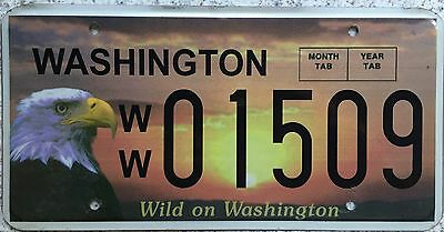GENUINE American Wild on Washington Eagle USA License Licence Number Plate 01509